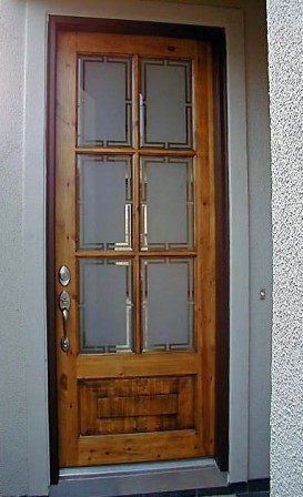 Residential projects for Residential front doors with glass